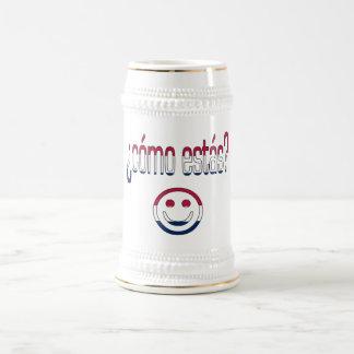 ¿Cómo Estás? America Flag Colors 18 Oz Beer Stein