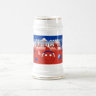 ¿Cómo Estás? Chile Flag Colors Pop Art 18 Oz Beer Stein
