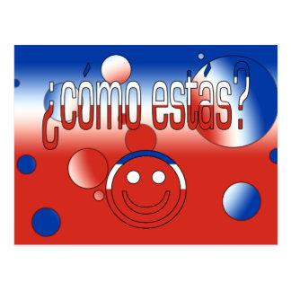 ¿Cómo Estás? Chile Flag Colors Pop Art Postcard