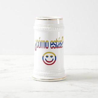 ¿Cómo Estás? Venezuela Flag Colors 18 Oz Beer Stein