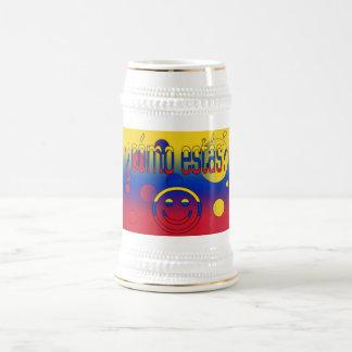 ¿Cómo Estás? Venezuela Flag Colors Pop Art 18 Oz Beer Stein