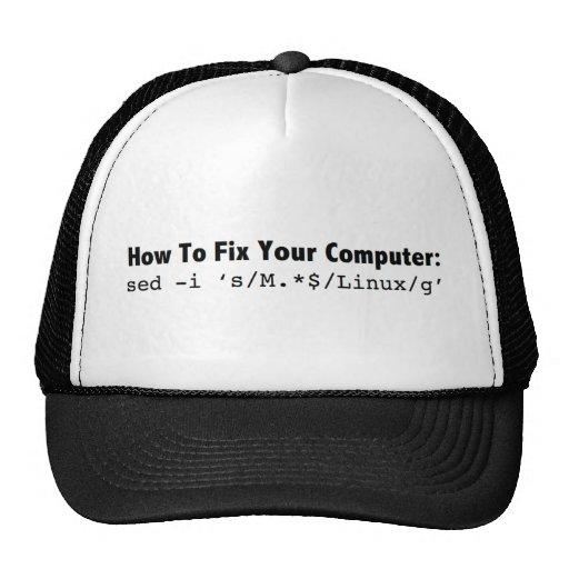 Cómo fijar su Computer_black.png Gorra