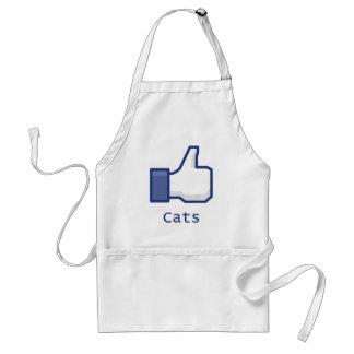 Como gatos delantales