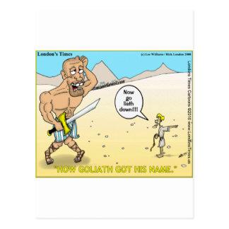 Cómo Goliat consiguió sus camisetas y regalos dive Postal