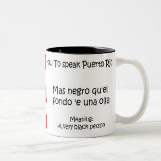 Cómo hablar a puertorriqueño tazas de café