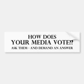 Cómo hace su voto de los medios pegatina para auto