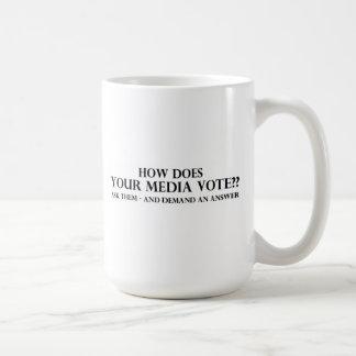 Cómo hace su voto de los medios tazas de café