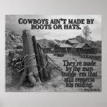Cómo hacen los vaqueros poster