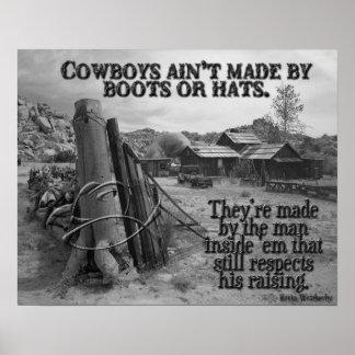 Cómo hacen los vaqueros póster