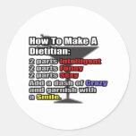 Cómo hacer a un dietético etiquetas redondas