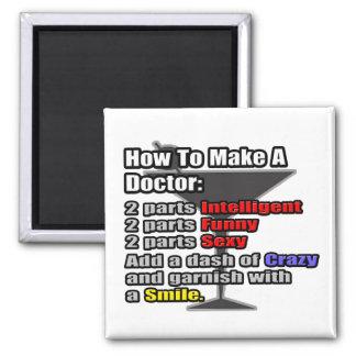 Cómo hacer a un doctor imán de frigorífico