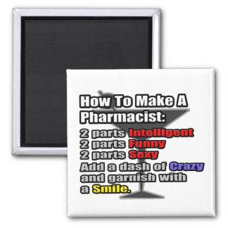 Cómo hacer a un farmacéutico imán cuadrado