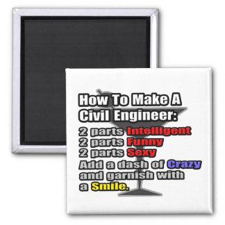 Cómo hacer a un ingeniero civil imán cuadrado
