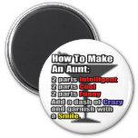 Cómo hacer a una tía imanes de nevera
