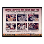 Cómo hacer compras con el libro de ración de la gu tarjetas postales