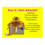 cómo hacer el catloaf tarjeta postal