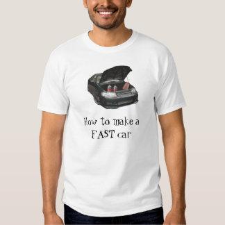 Cómo hacer un coche RÁPIDO Camisas