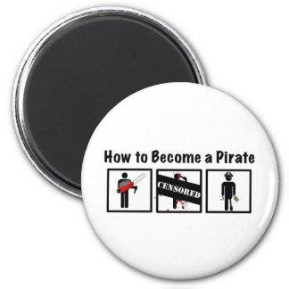 Cómo hacer un pirata imán redondo 5 cm