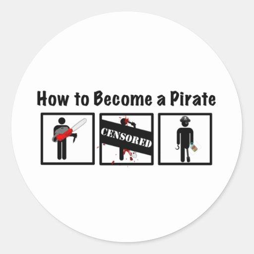 Cómo hacer un pirata pegatina redonda