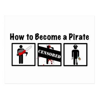 Cómo hacer un pirata tarjeta postal