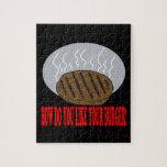Cómo haga usted tiene gusto de su hamburguesa rompecabezas con fotos