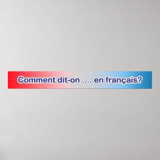 Cómo hágale para decir… en poster francés de la sa póster