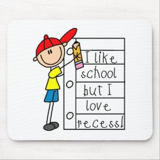 Como hendidura del amor de la escuela mousepads