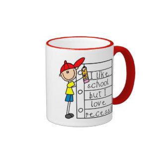 Como hendidura del amor de la escuela taza de café