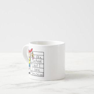 Como hendidura del amor de la escuela taza espresso