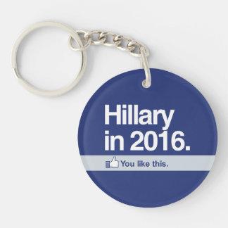 Como Hillary Llavero Redondo Acrílico A Doble Cara