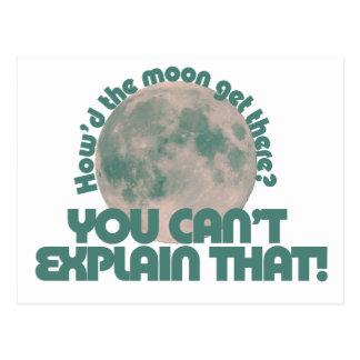 Cómo hizo la luna consiga allí tarjetas postales