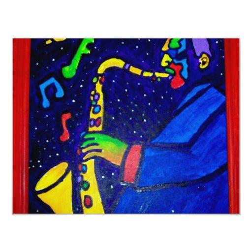 """Como hombre del jazz por Piliero Invitación 4.25"""" X 5.5"""""""
