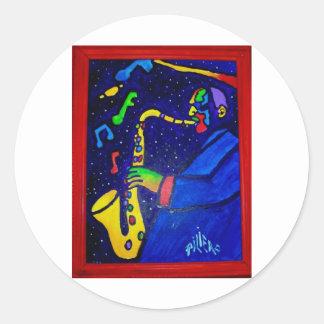 Como hombre del jazz por Piliero Etiquetas Redondas
