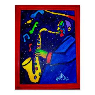 Como hombre del jazz por Piliero Tarjeta Postal