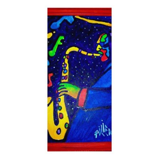 Como hombre del jazz por Piliero Tarjetas Publicitarias A Todo Color