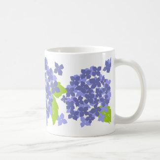COMO Hydrangea del azul de la taza