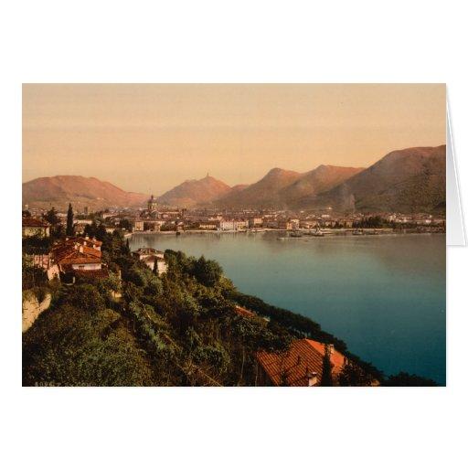 Como I, lago Como, Lombardía, Italia Tarjeta De Felicitación