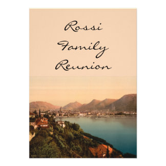 Como I, Lake Como, Lombardy, Italy Custom Invites