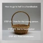 Cómo ir al infierno en un cartel del handbasket impresiones