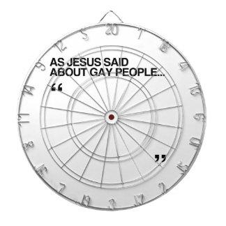 COMO JESÚS DIJO SOBRE GENTE GAY TABLA DARDOS