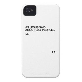 COMO JESÚS DIJO SOBRE GENTE GAY Case-Mate iPhone 4 CARCASAS
