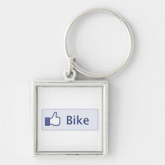 Como keytag de la bici llavero cuadrado plateado