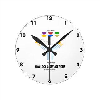 ¿Cómo la cerradura y la llave son usted? Reloj Redondo Mediano