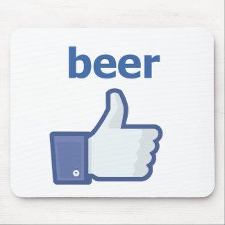 COMO la cerveza Alfombrillas De Ratones