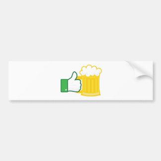 Como la cerveza etiqueta de parachoque