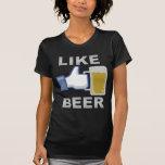 Como la cerveza camiseta