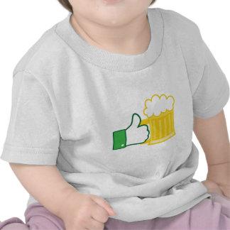 Como la cerveza camisetas