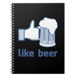 Como la cerveza cuaderno