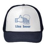Como la cerveza gorros bordados