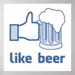 Como la cerveza impresiones